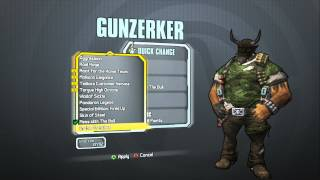 Borderlands 2 - Gunzerker Madness Pack (El Diablo Head and Mess With The Bull skin)