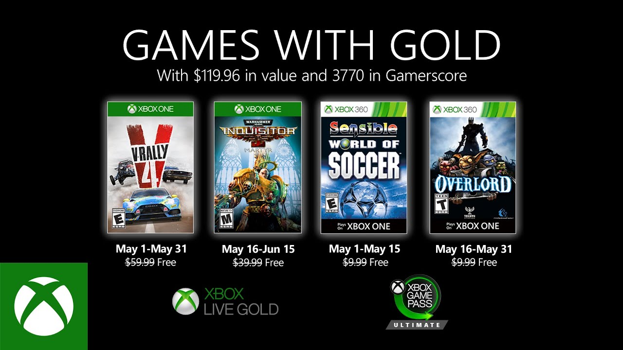 Xbox - May 2020 Games with Gold - YouTube