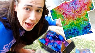Tie Dying with Ice Cubes FAIL!