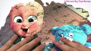 Green Screen Kinetic Sand The Boss Baby Moana Zootopia Video for Children Songs for Kids