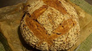 Получается у Всех  / Пшеничный хлеб с кукурузными хлопьями / Закваска Левито мадре / Без дрожжей !