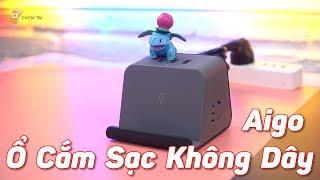 Ổ Cắm Điện Tích Hợp Sạc Không Dây và 3 Cổng USB Aigo - Đa Dụng Tiện Lợi!