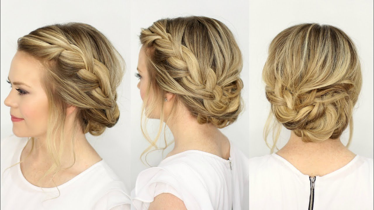 Fancy French Braid Updo Missy Sue Youtube