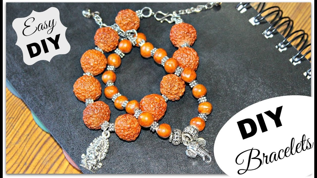 Diy Beaded Charm Bracelet How To Make Indian Style Bracelets Diy