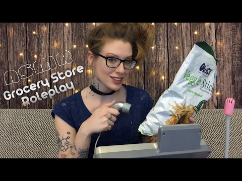 ASMR GROCERY STORE ROLEPLAY (Gentle Whispering, Mouth Sounds, Tapping, Scanning)