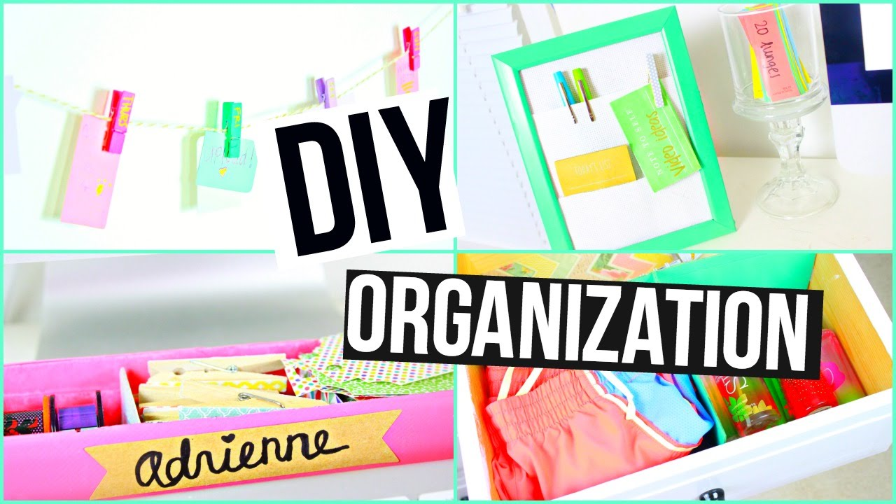 Diy spring organization life hacks room decor youtube for Room decor hacks