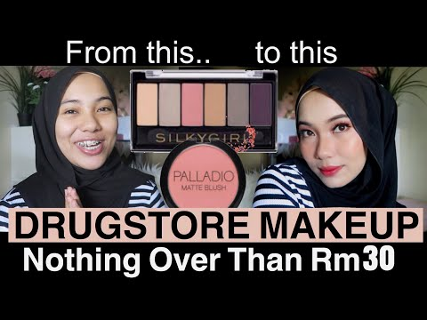 NOTHING OVER THAN RM30 FROM DRUGSTORE | AFFORDABLE MAKEUP | COLLAB WITH AINA MAISARA