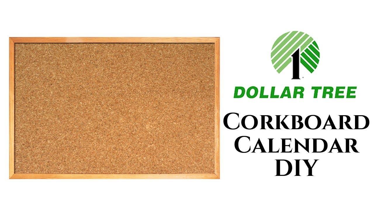 Dollar Tree Diy Cork Board Calendar 2018 Youtube