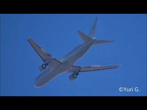 [Homespotting] EXTREME RARE Boeing 767-300ER Brasilian Air Force approach at Rome Ciampino Airport