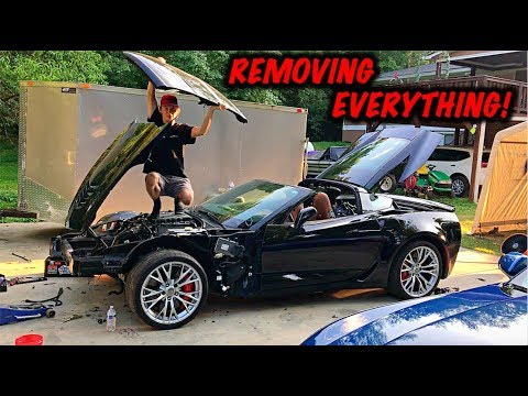 Rebuilding A Wrecked 2017 Corvette Z06 Part 4