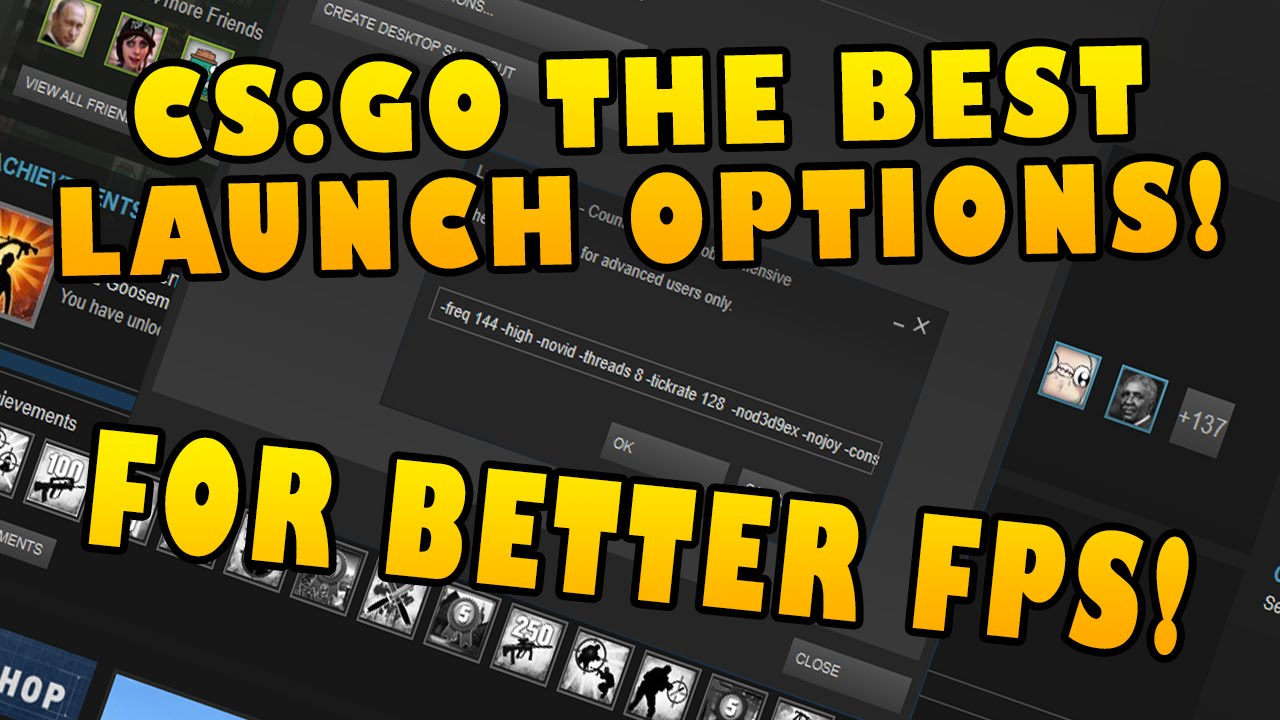 Best cs go launch options for increased fps