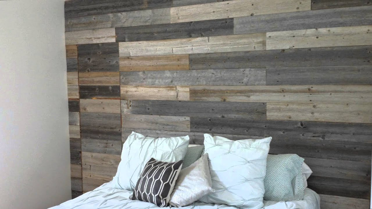 lit en bois de grange youtube. Black Bedroom Furniture Sets. Home Design Ideas