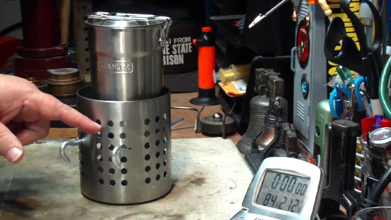 Stanley Camp Cook Pot With The Ikea Hobo Stove Boil Test