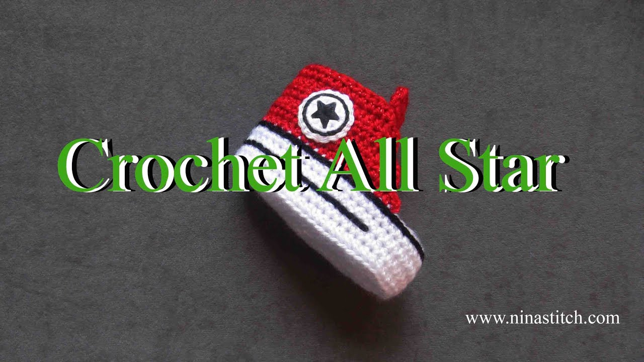 How to crochet All Star on shoes - YouTube