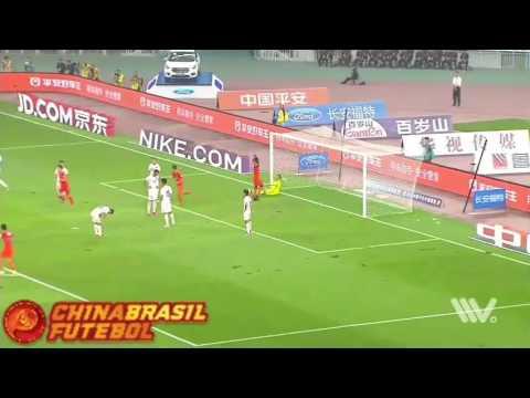 Gol Gil - Shandong Luneng x Changchun Yatai - 18a rodada da Super Liga da China 2017