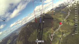 Paragliding - Thermalling on a Windy Day