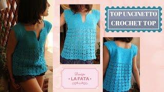 TUTORIAL: top down crochet/ top all'uncinetto/maglia top****lafatatuttofare***