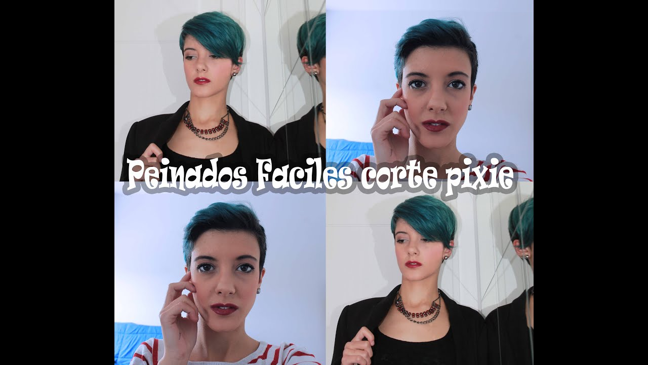 Peinados faciles para cortes pixie youtube - Ideas para peinar cabello largo ...