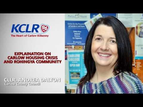 Cllr Andrea Dalton explains Carlow Housing Crisis and Rohingya Community