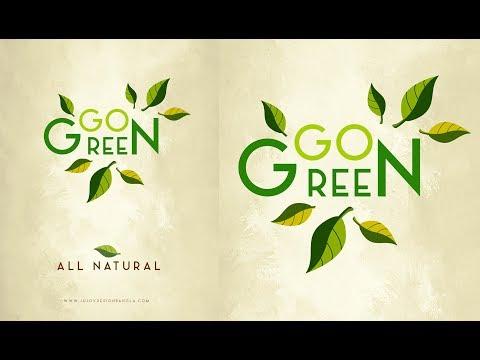 Photoshop Tutorial | Branding Design | Go Green All Natural | Ju Joy Des...