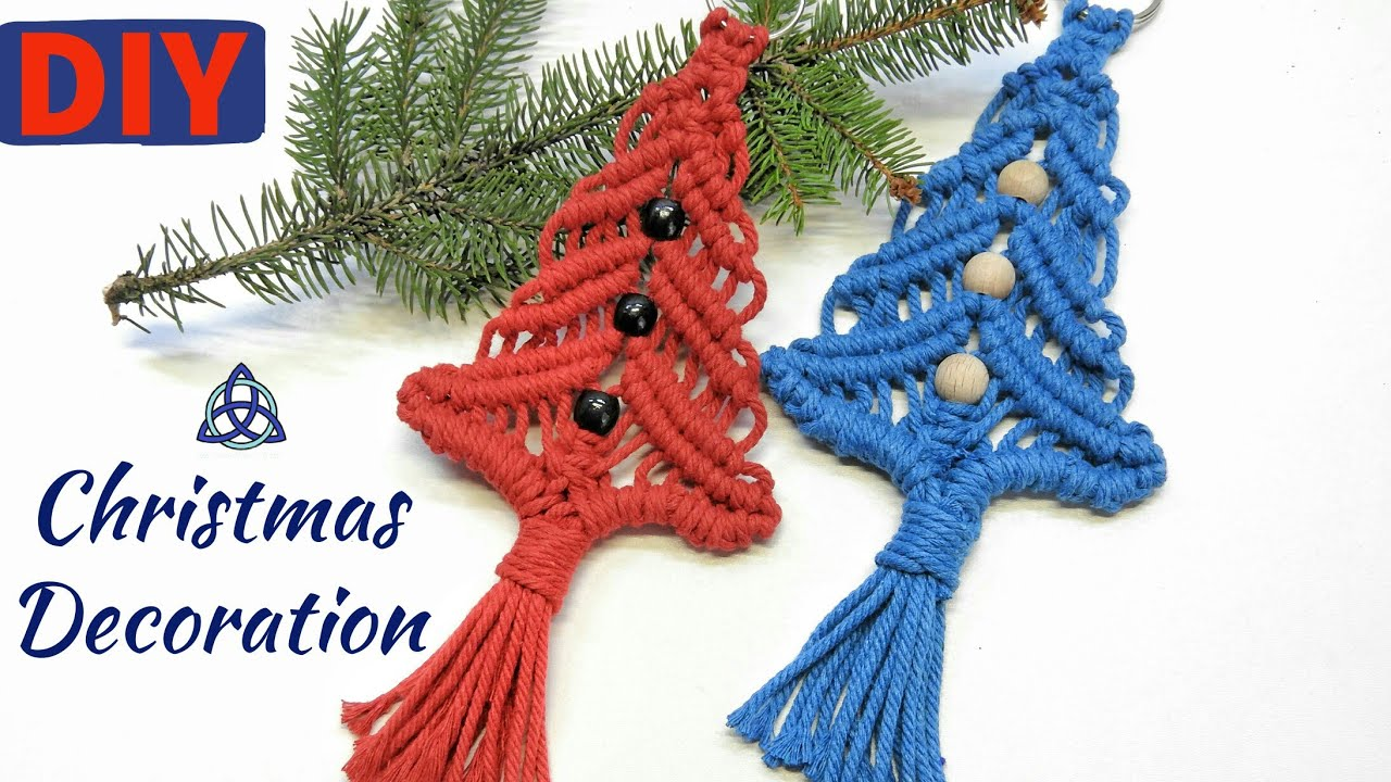 Diy Macrame Christmas Tree Decoration Easy Christmas Crafts Youtube Easy Christmas Crafts Macrame Diy Diy Christmas Tree