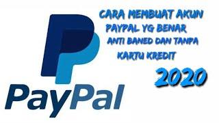 TERBARU!!  Cara Membuat Akun PayPal Tanpa Kartu Kredit Anti Baned!! 2020