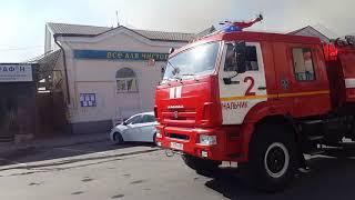 Нальчик пожар на зеленом рынке 16.04.2018