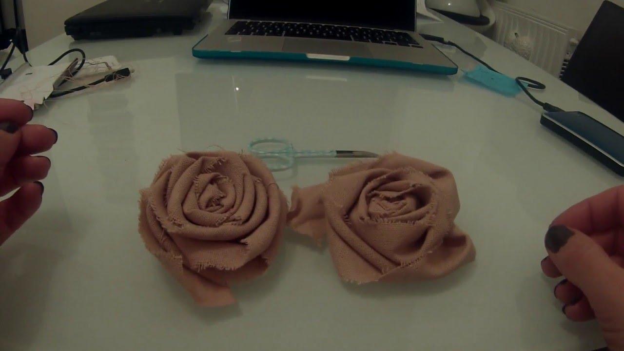 Rose In Tessuto Shabby Chic Youtube