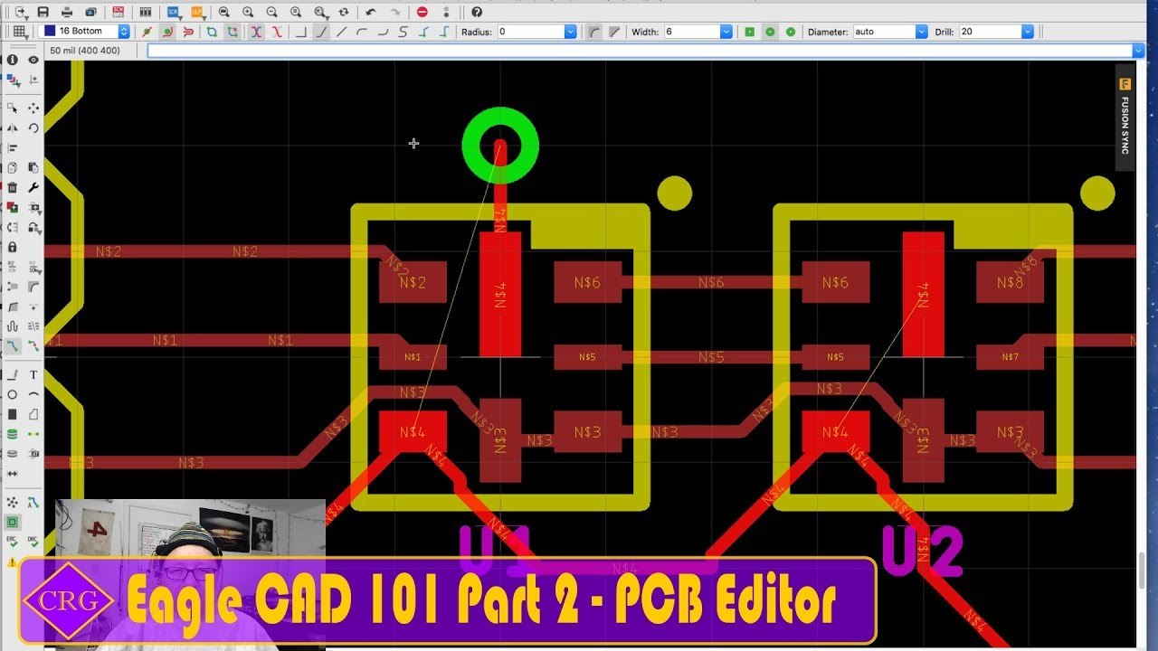 Eagle CAD 101 Part 2 - Printed Circuit Board (PCB) Editor - YouTube