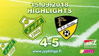 JyPK - FC Honka 15.09.2018 Highlights!