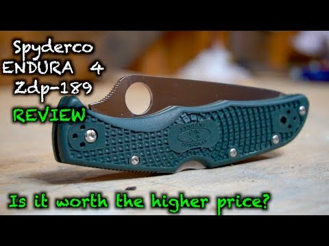 Spyderco Endura 4 zdp-189 review