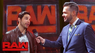 """""""Pitch Perfect"""" star Skylar Astin visits Raw backstage in Los Angeles: Raw Exclusive, Feb. 20, 2017"""