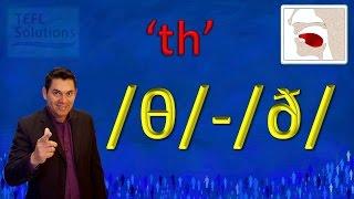 MUY FACIL, como pronunciar los sonidos 'th' en Ingles /θ/ and /ð/