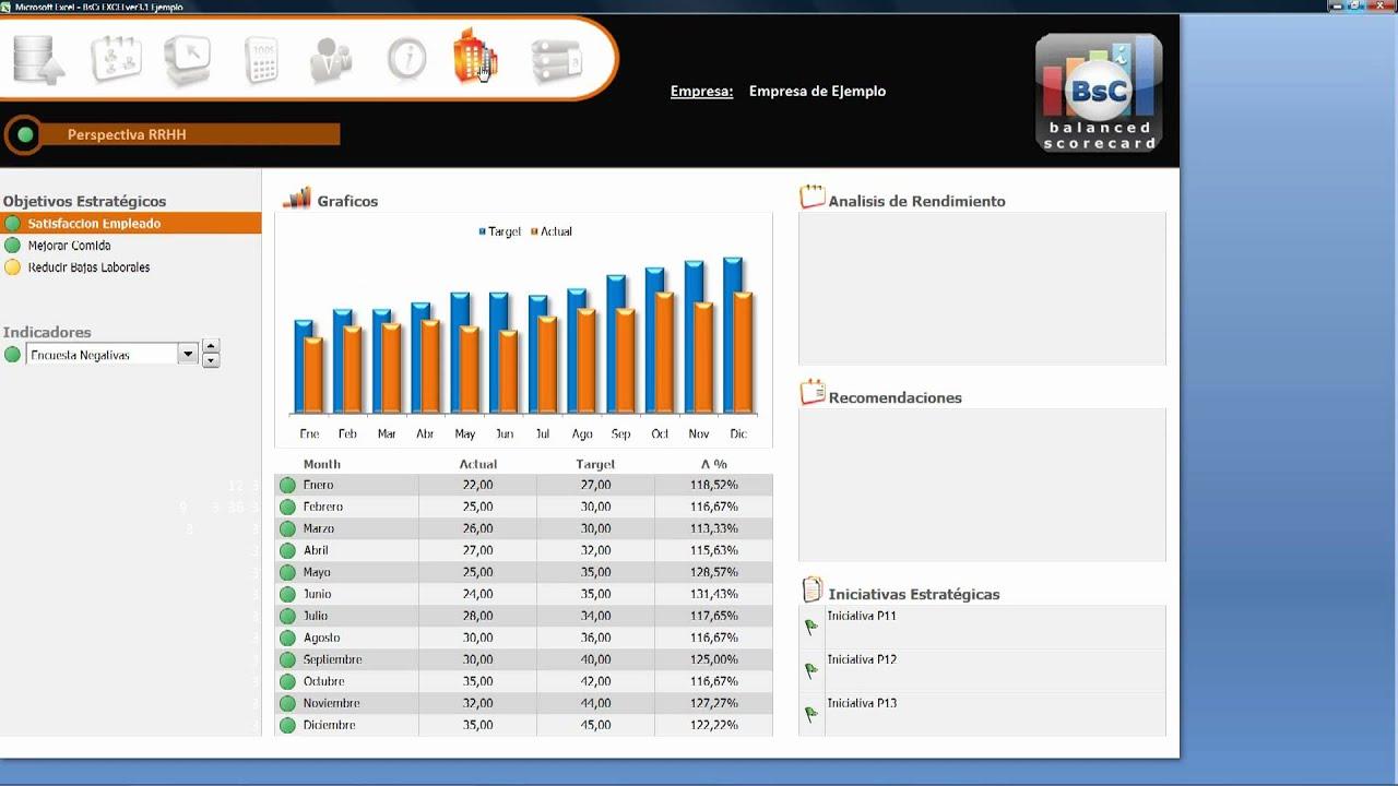 Demo: Diseñe con Excel su Cuadro de Mando / Balanced Scorecard - YouTube