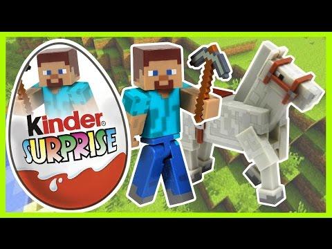 Видео: Киндер Сюрприз. Майнкрафт. Minecraft . Kinder Surprise