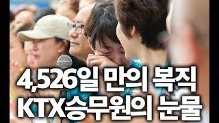 4,526일 만의 복직, KTX승무원의 눈물