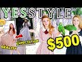 $500 YESSTYLE HAUL AND TRY ON!!! FALL & WINTER DRESSES: Too good to be true?!