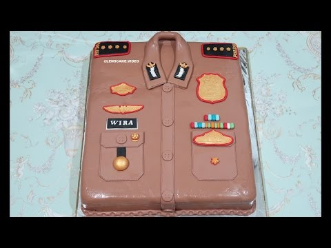 BIG CAKE 50CM! HOW TO MAKE BIRTHDAY CAKE UNIFORM POLICE