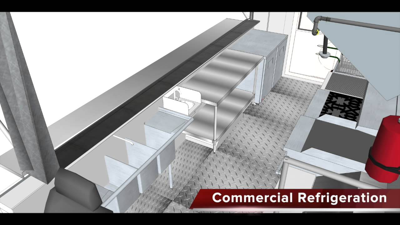 Food truck 3d floor plan biz on wheels youtube for Food truck design plan
