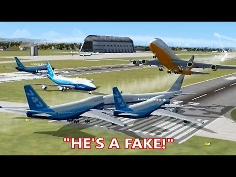 FSX Multiplayer Trolling: Multiple Air Force One IMPOSTORS