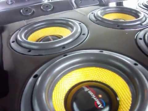 8 8'' American Bass VFL Subwoofers On Gold American Bass VFL Amplifiers ~!
