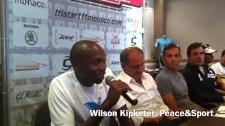 Wilson Kipketer representing Peace&Sport Team TriStar Monaco 2012