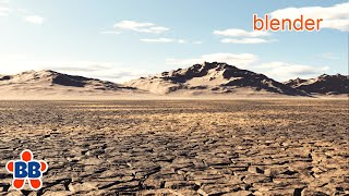 Quickly Create this Dry Lake Environment Terrain in Blender 2.8