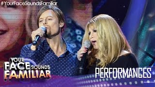 Your Face Sounds Familiar: Denise Laurel and Jay R as Barbara Streisand and Bryan Adams