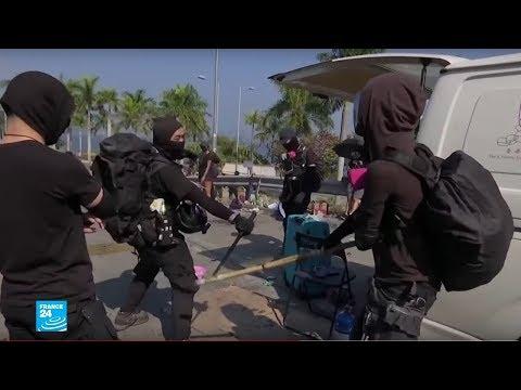 هونغ كونغ: المتظاهرون يستخدمون أسلحة بدائية في مواجهة رصاص الشرطة  - نشر قبل 25 دقيقة