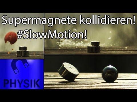 Colliding neodymium magnets in #SlowMotion!