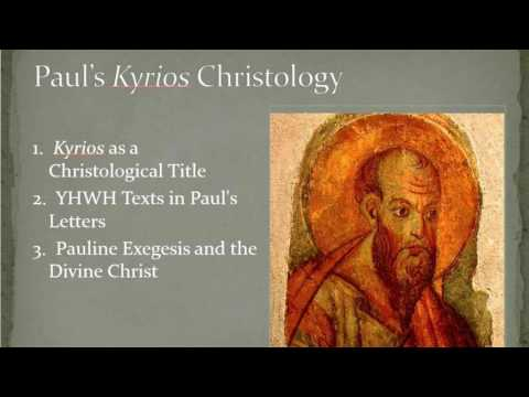 Kyrios as a Christological Title - Hayward Lectures 2014 - Dr David B Capes