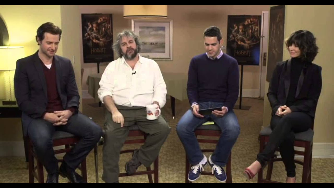 google hangout with richard armitage peter jackson and