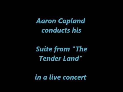 "Copland conducts his ""Tender Land Suite"" -- Stephen Clark, principal clarinet ('77)"