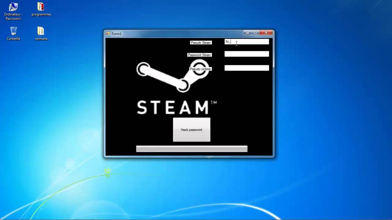 how to change steam passowrd